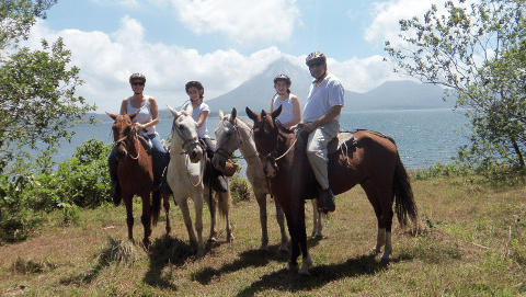 Horseback Riding to La Fortuna Waterfalls