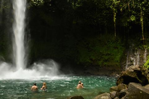 Riding to La Fortuna Waterfalls